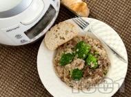 Свинска плешка с ориз и броколи в Делимано Мултикукър